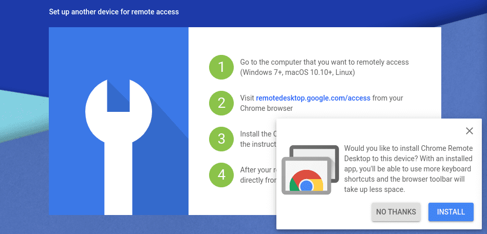 Install Chrome Remote Desktop