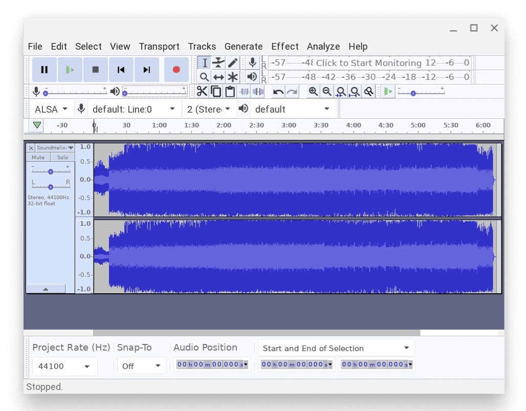 Audacity on Chromebook