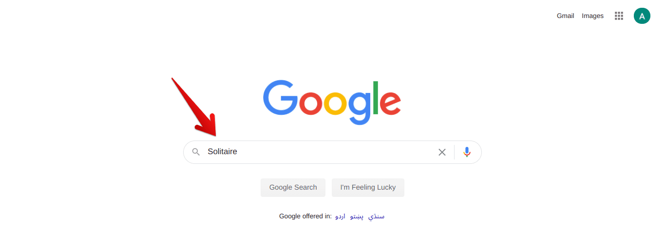 Searching for Solitaire on Google