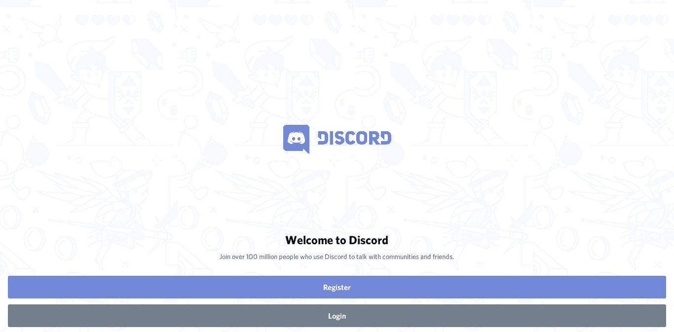 Discord Welcome Screen