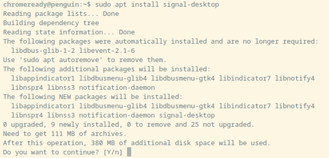 Installing Signal
