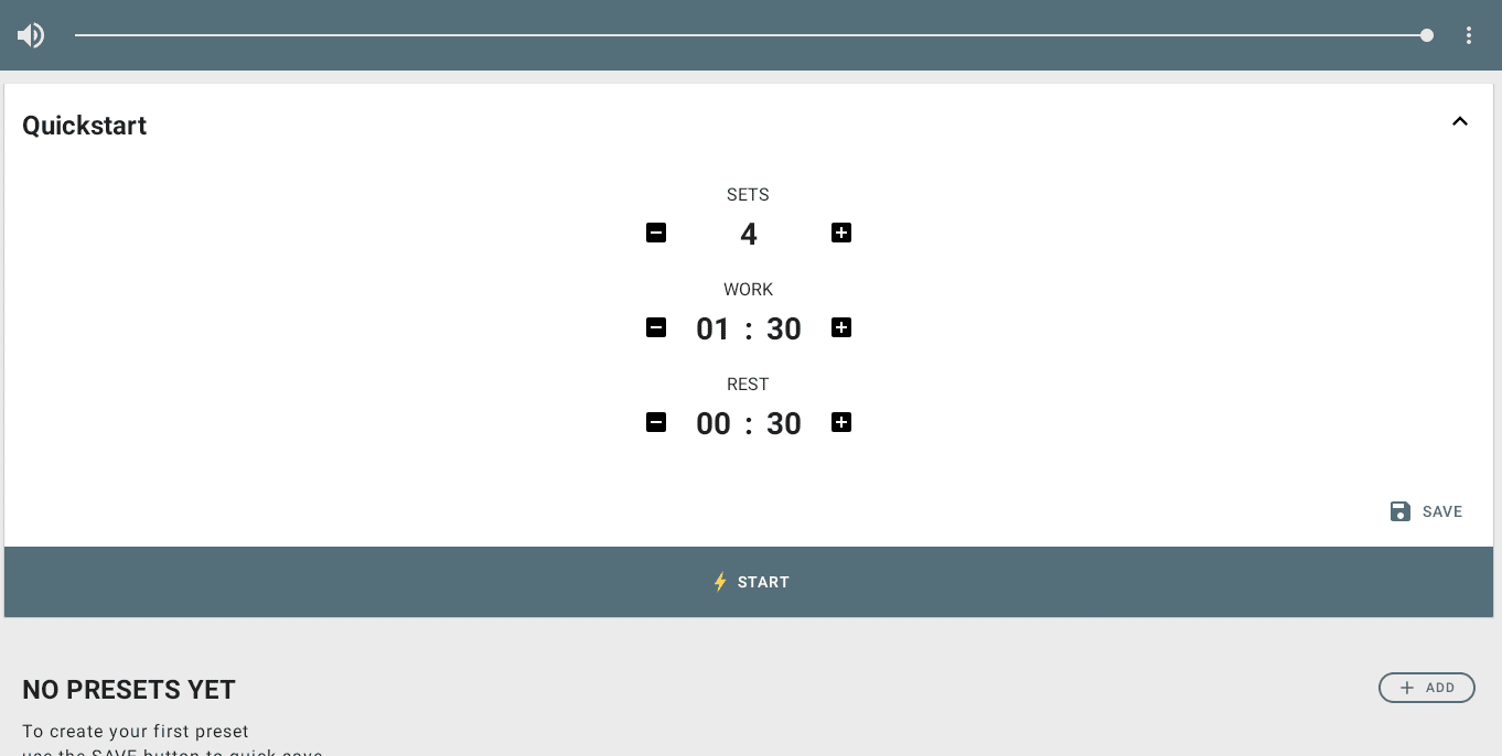 Interval Timer on Chromebook