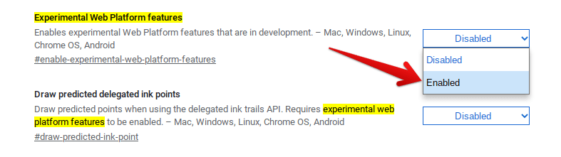 Enabling Experimental Features