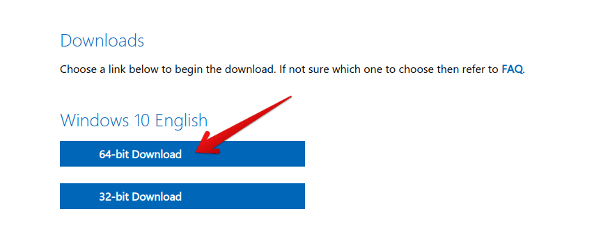 Download the Windows 10 Disc Image