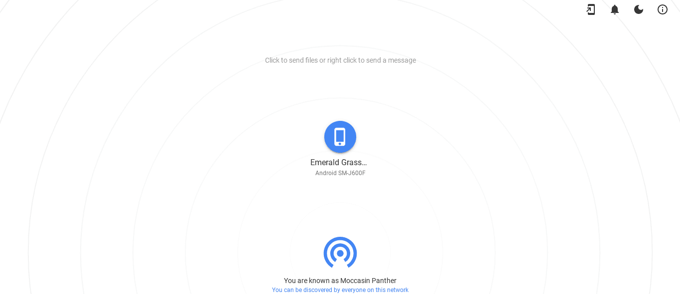 Connecting Phone and Chromebook With Snapdrop