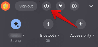 Turning Off the Chromebook