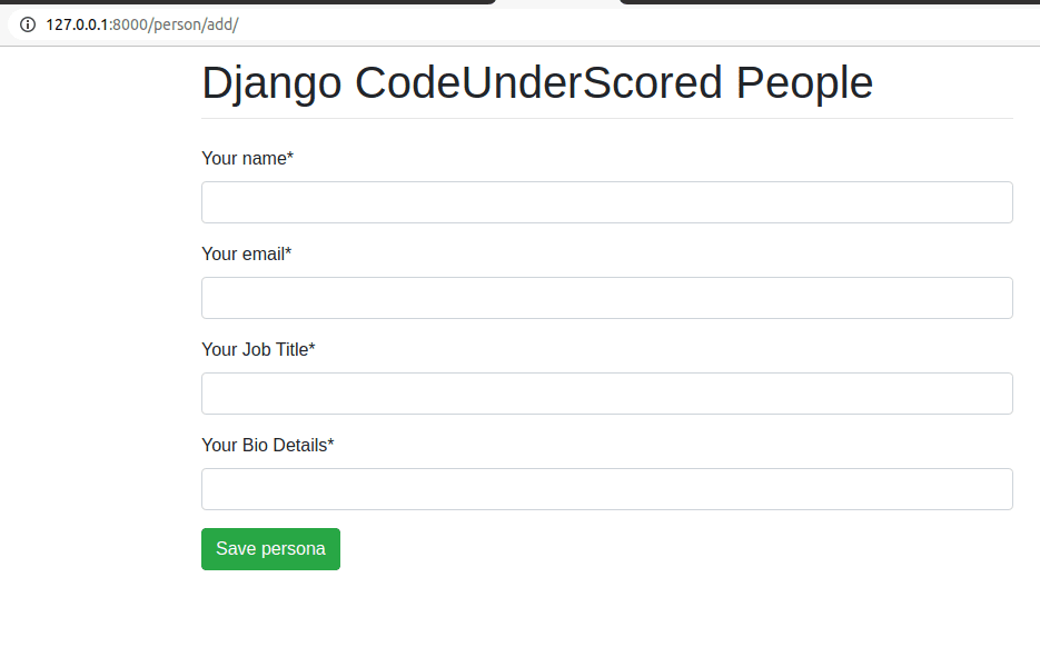 Django Forms with Activated Crispy Forms Tags
