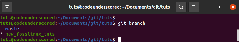 local git branches