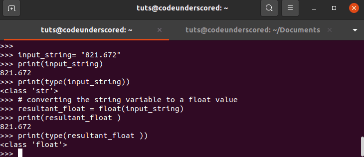 Example 1: convert string to float