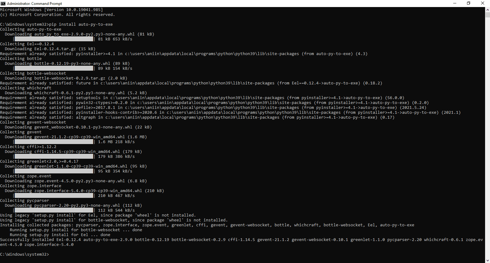 how to install auto-py-to-exe