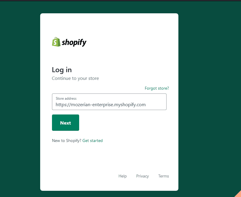 shopify-sign-in-page