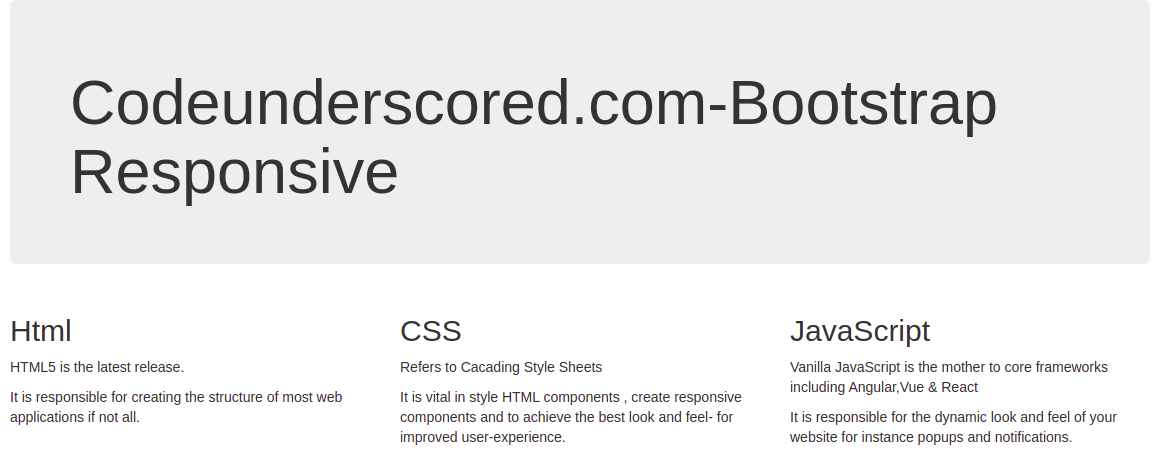 responsive Bootstrap page