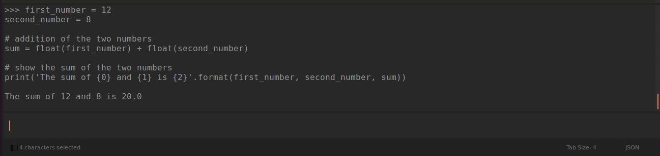 running code on view show console