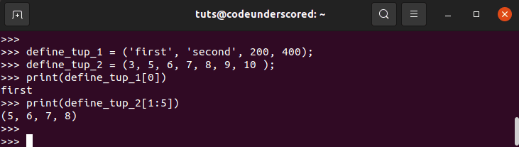 Value access in Tuples